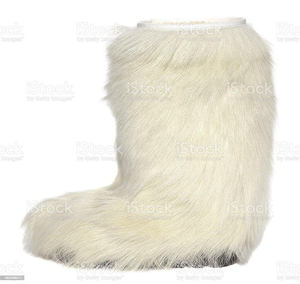 Fur boot stock photo
