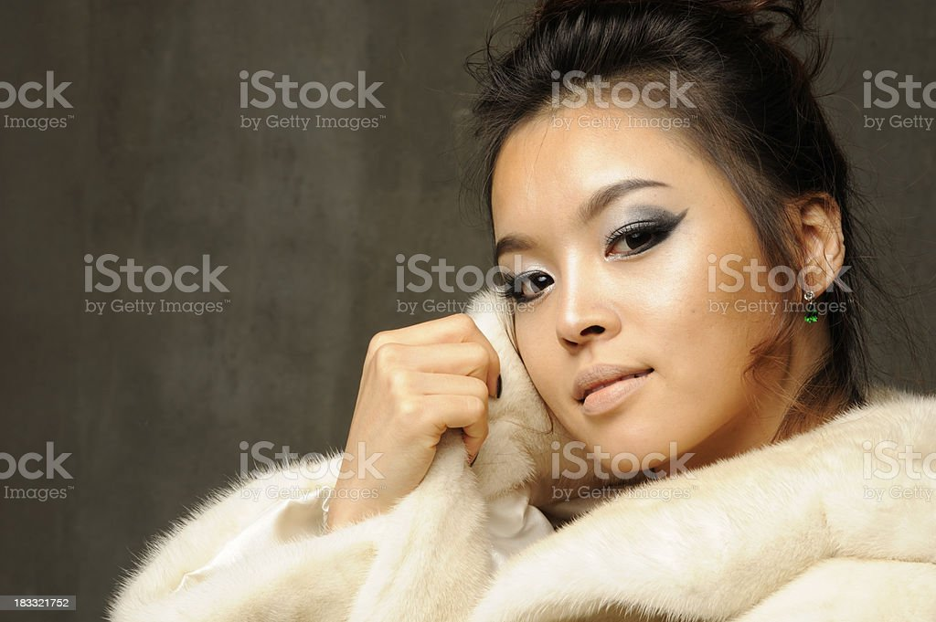 Fur fashion stock photo