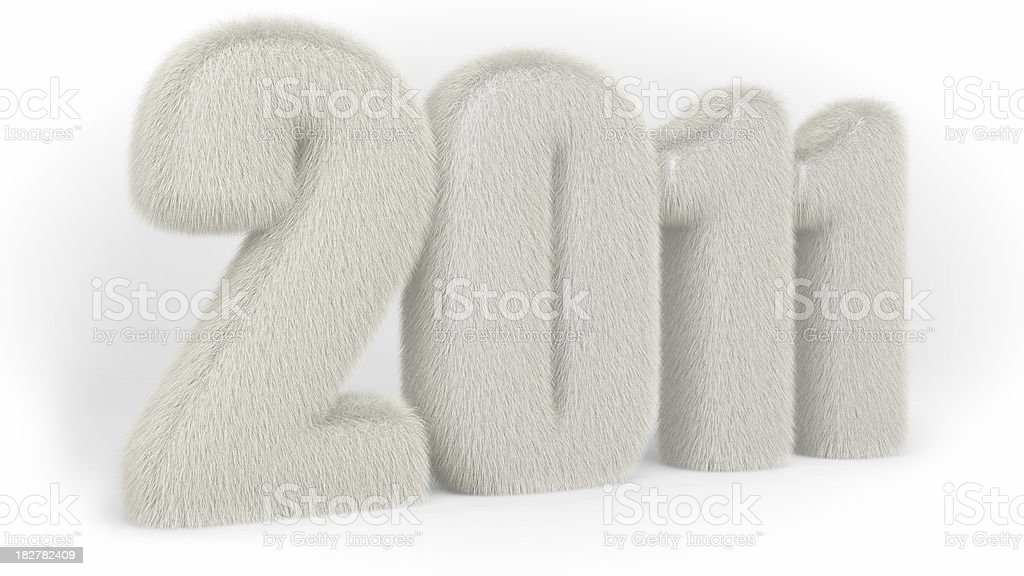Fur for new year stock photo