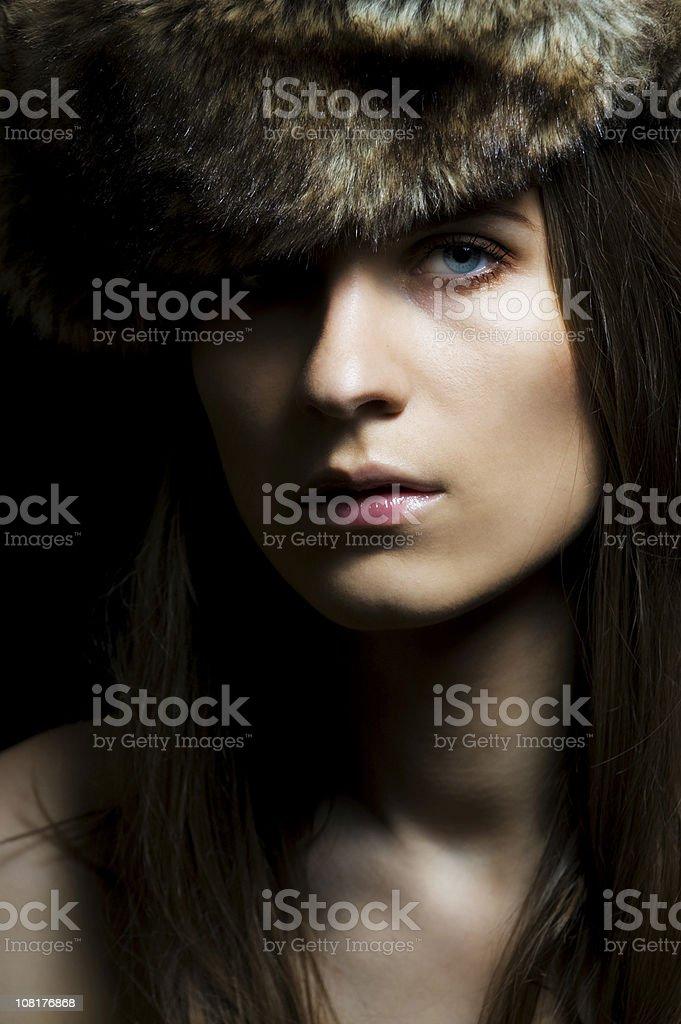 fur hat royalty-free stock photo