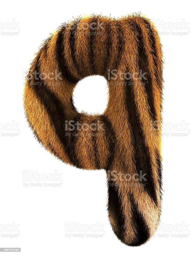 Fur letter q royalty-free stock photo