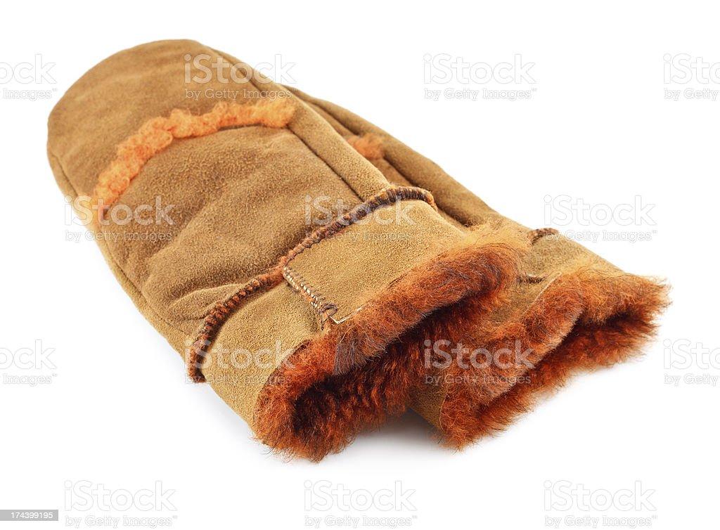 Fur Mittens royalty-free stock photo