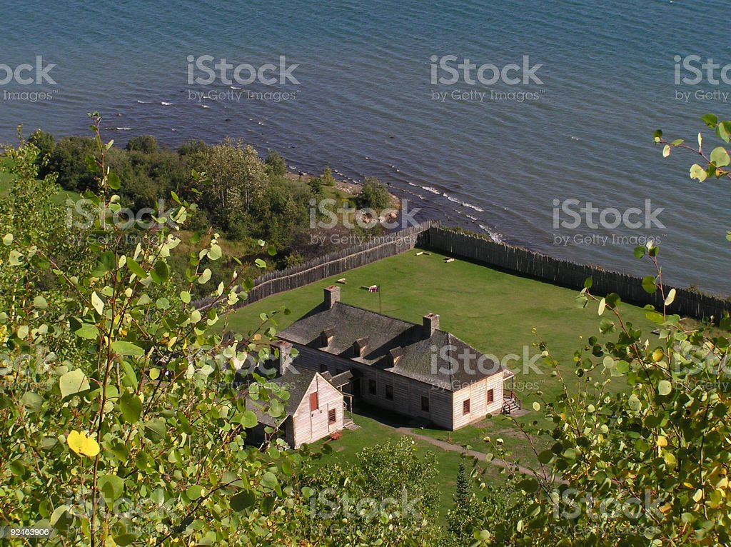 Fur Trade Era Fort From Above stock photo