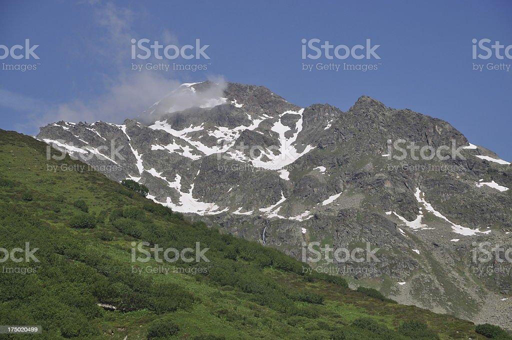 Furgler, a mountain in Austria stock photo