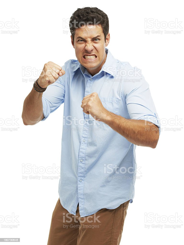 Furious and frustrated stock photo