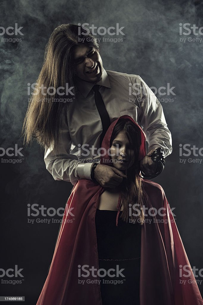 Furious Bad Wolf royalty-free stock photo