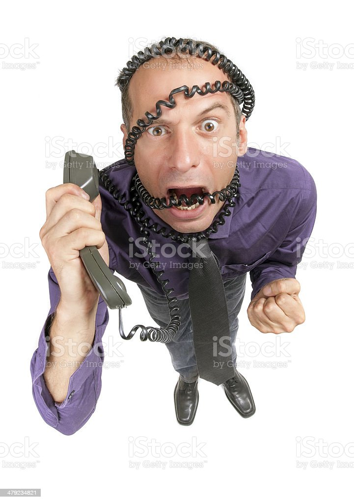 furious business man royalty-free stock photo