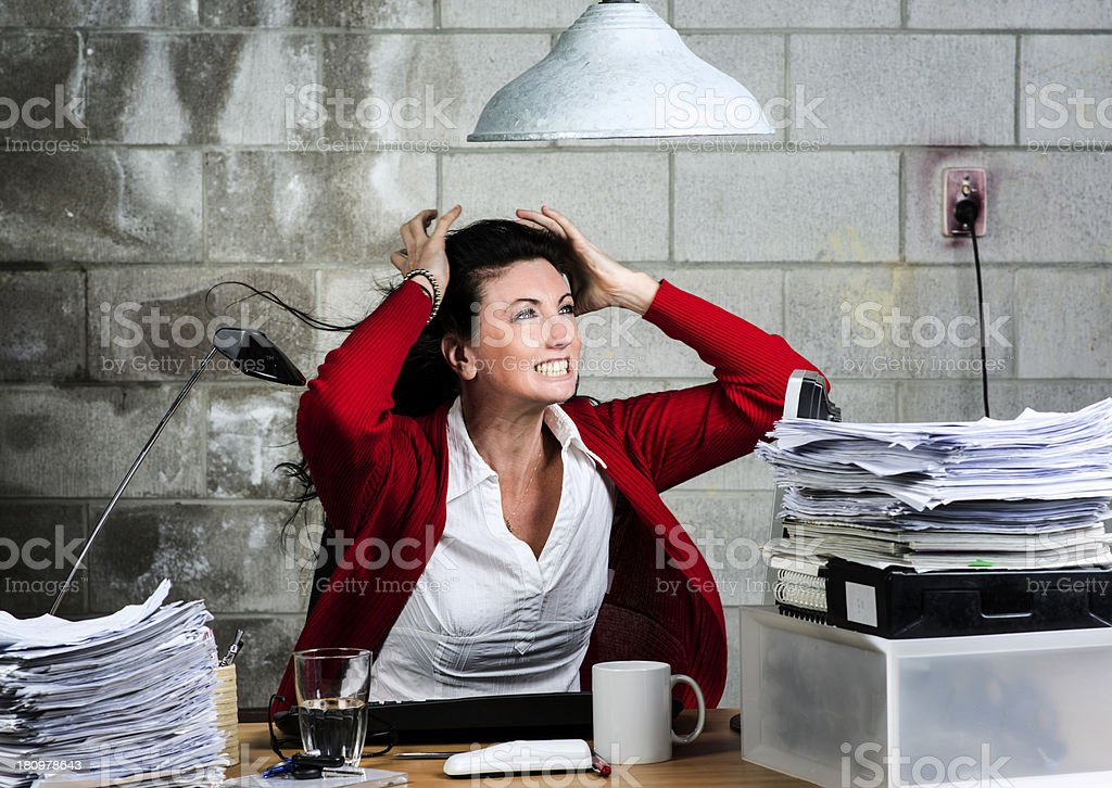 Furious business woman royalty-free stock photo