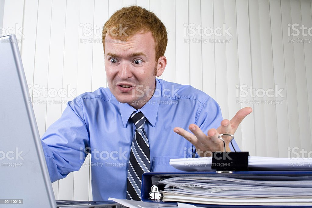Furious Businessman stock photo