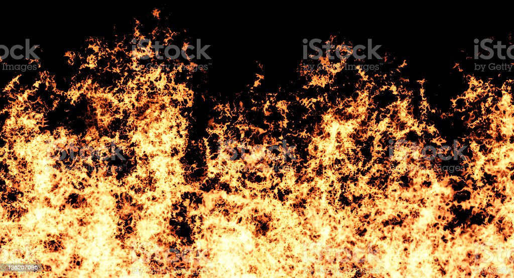 Furious flames royalty-free stock photo