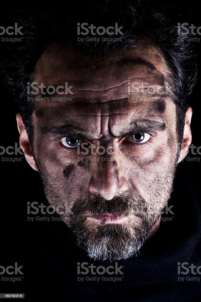Furious man stock photo