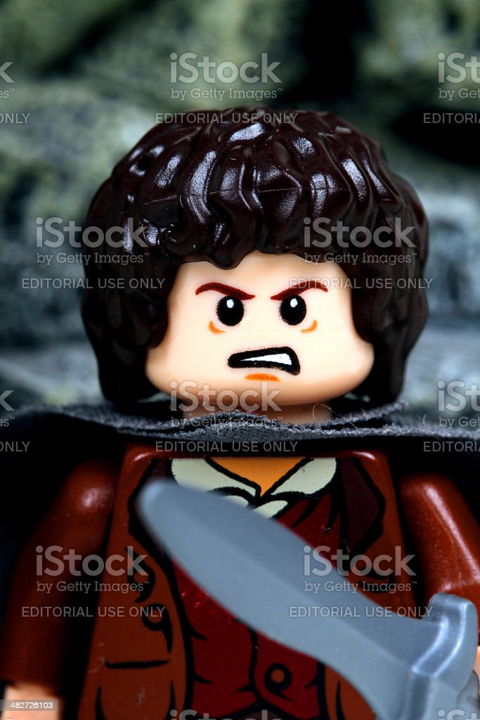 Furious Mister Baggins stock photo