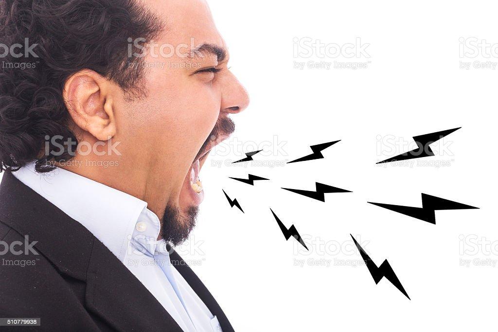 Furious Screaming Man stock photo