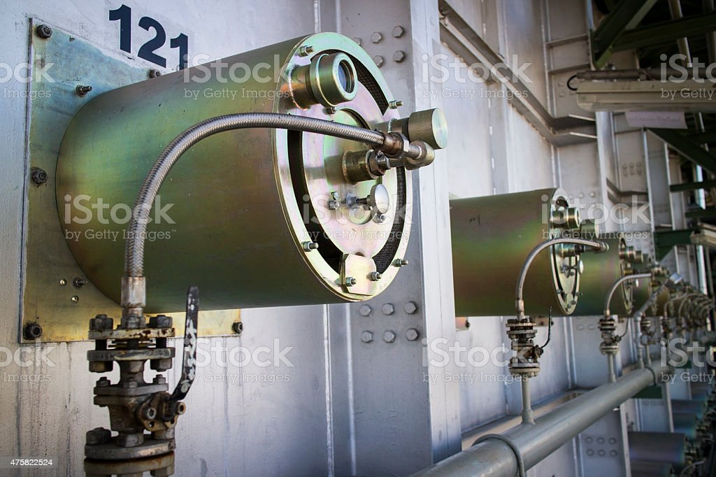 Furnace Burner stock photo