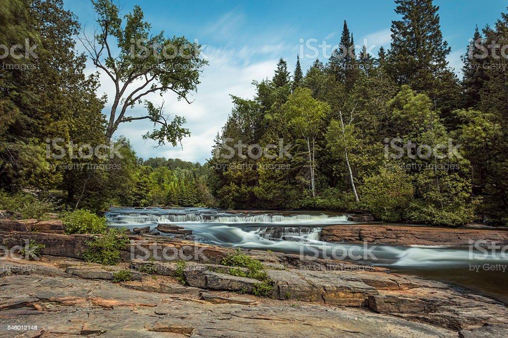 Furnace Falls in Blurr stock photo