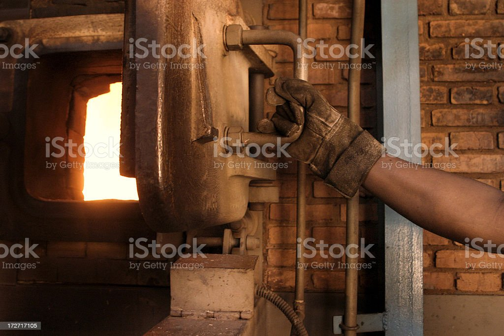 Furnace industry stock photo