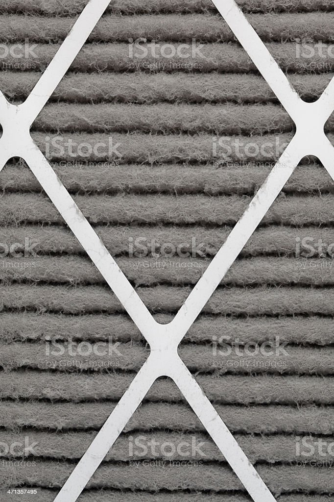 Furnace or HVAC Filter clogged With Dust Pollen and Allergens royalty-free stock photo