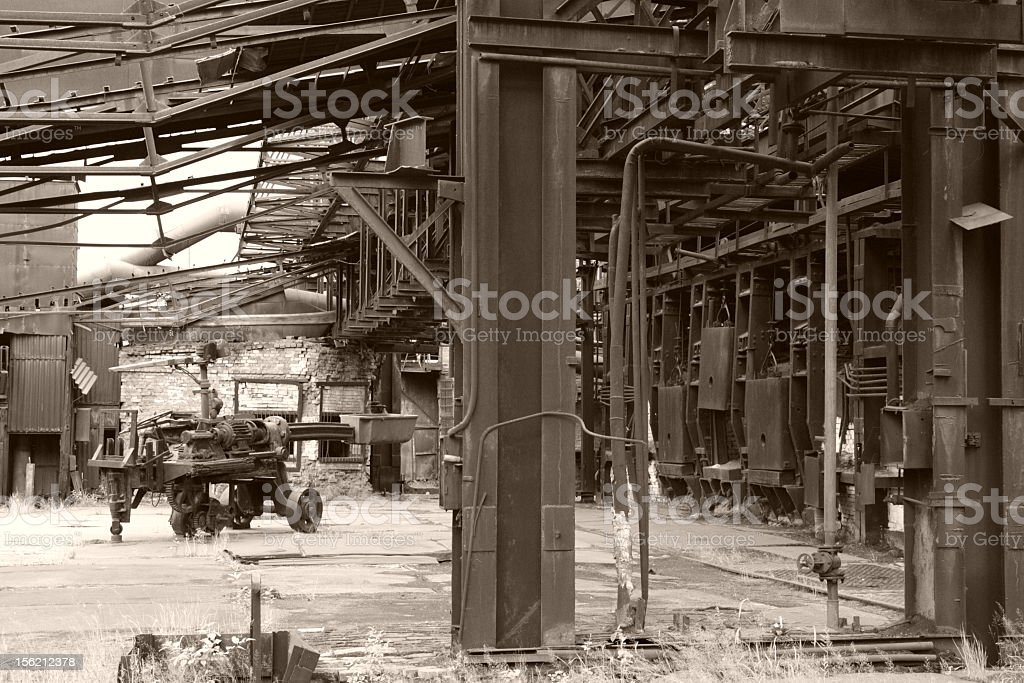 furnaces of old factory royalty-free stock photo