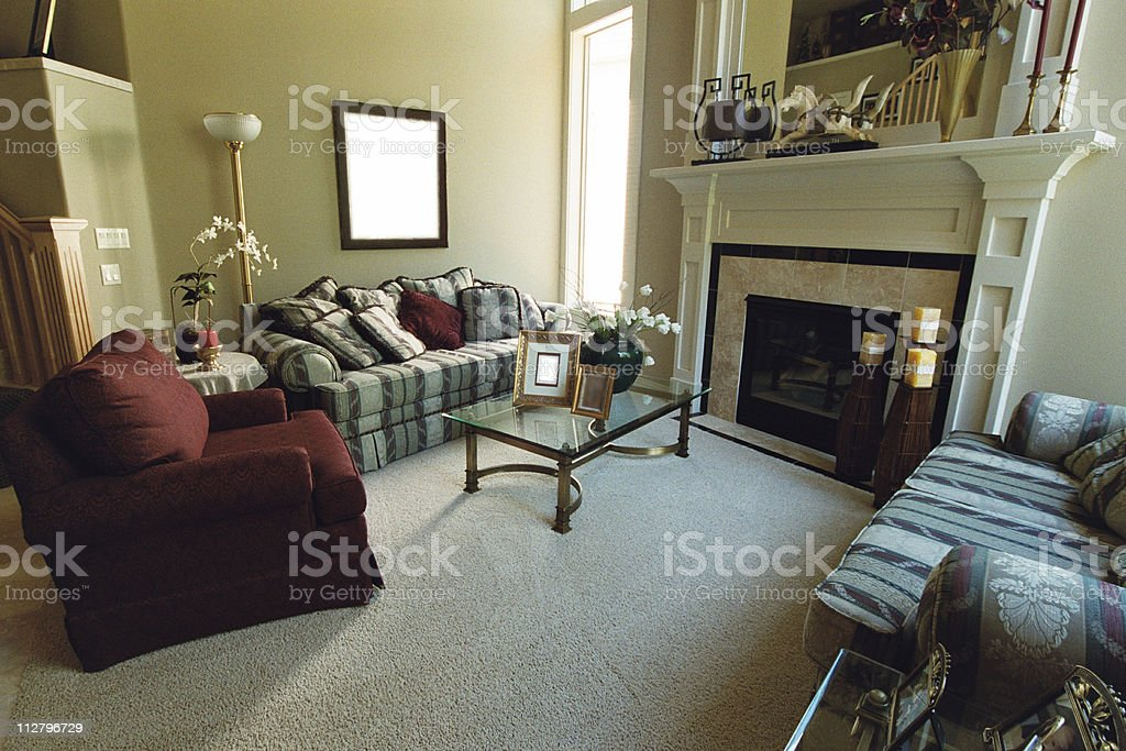 Furnished interior living room of a luxury house royalty-free stock photo