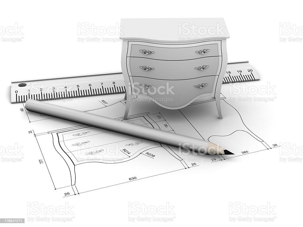 Furniture design stock photo