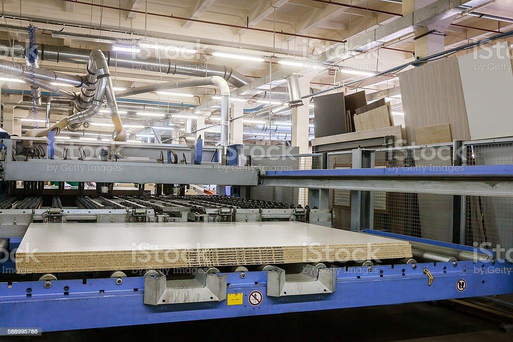 furniture factory machine stock photo