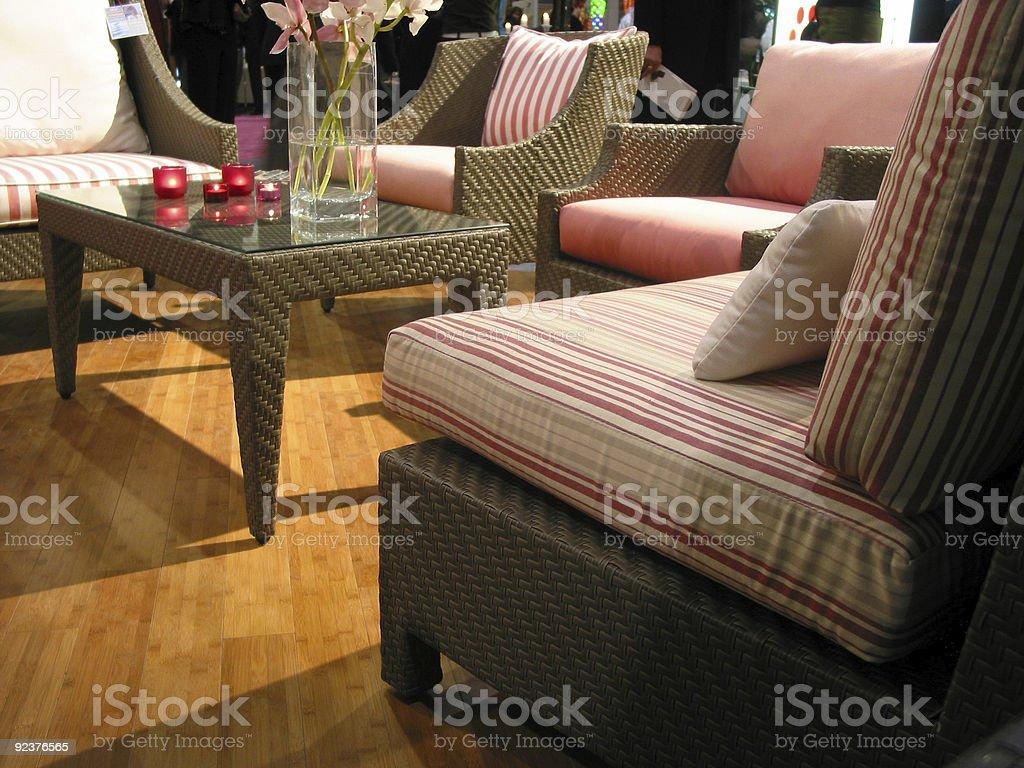 Furniture living room stock photo