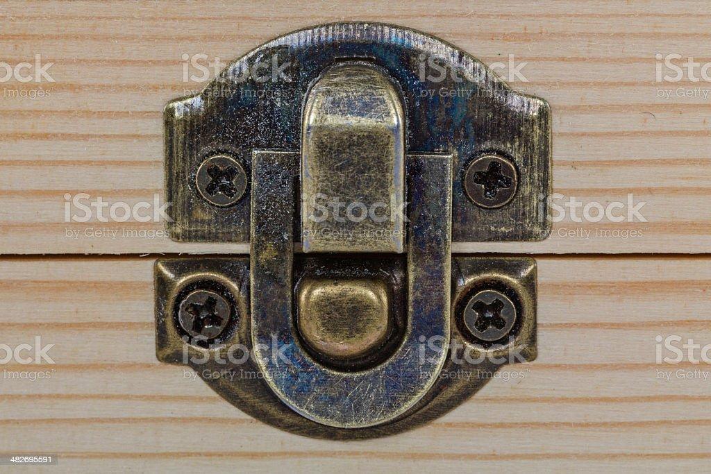 Furniture lock royalty-free stock photo