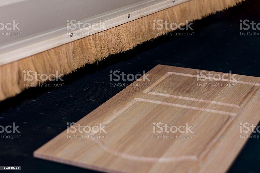 Furniture polishing machine. stock photo