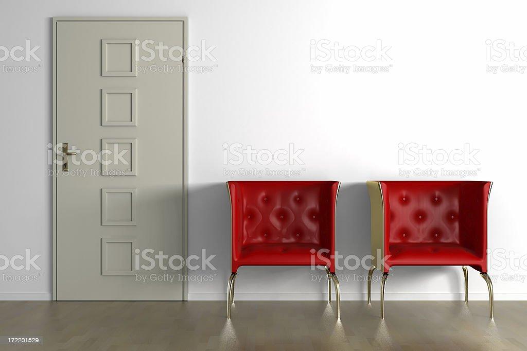furniture render (CGI) stock photo