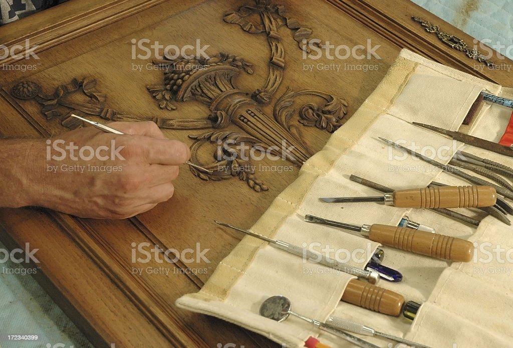 Furniture restorer stock photo