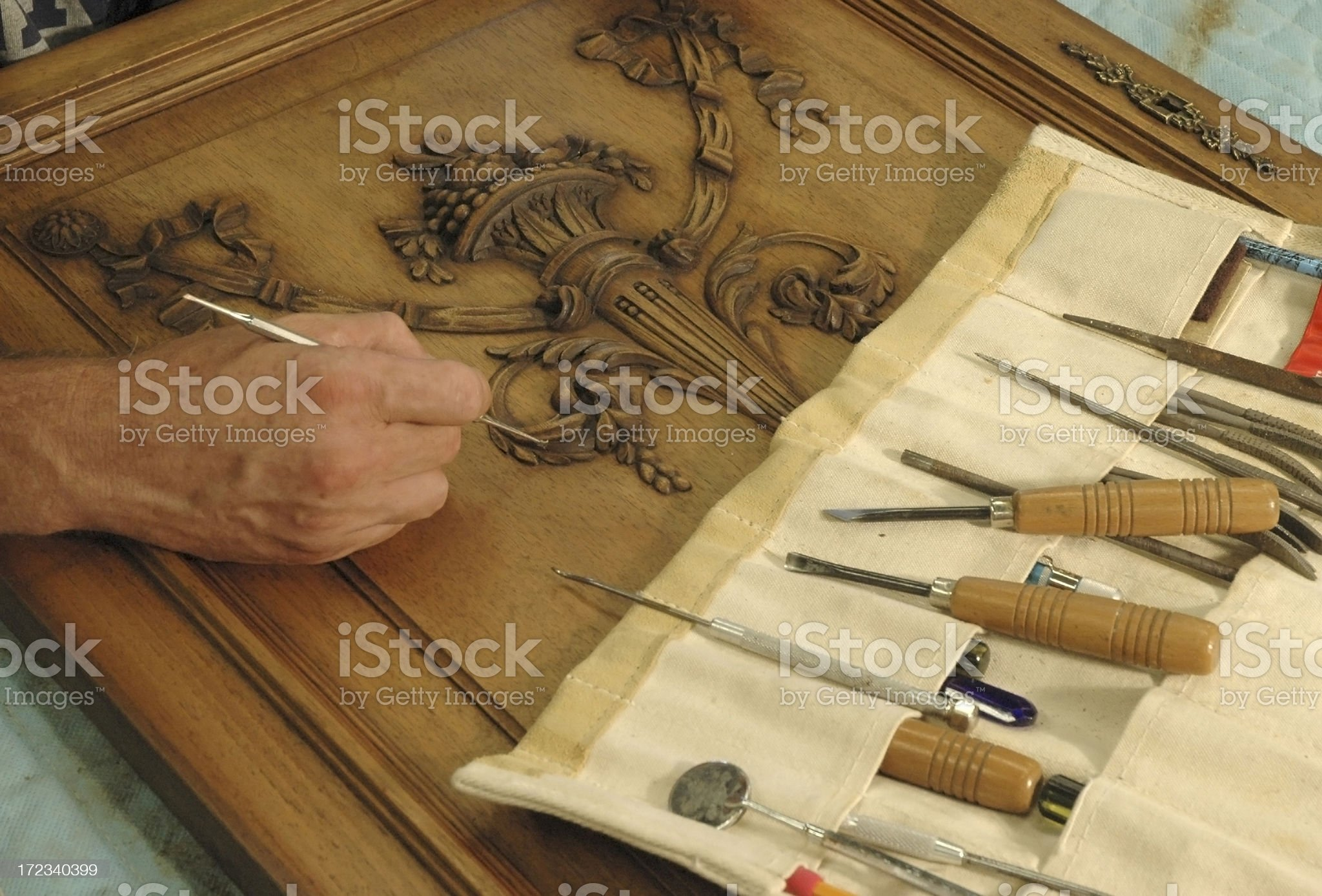 Furniture restorer royalty-free stock photo