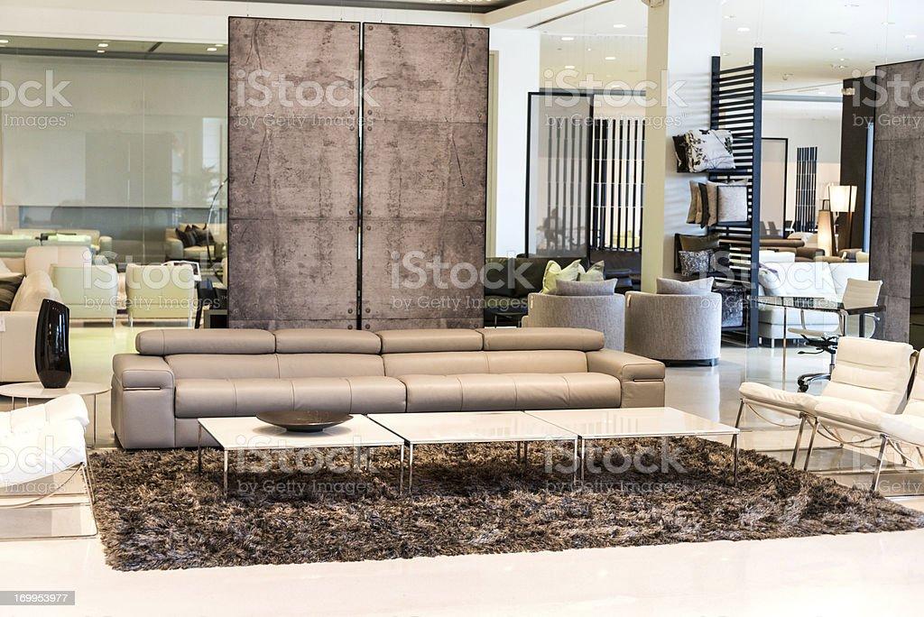 Furniture showroom stock photo