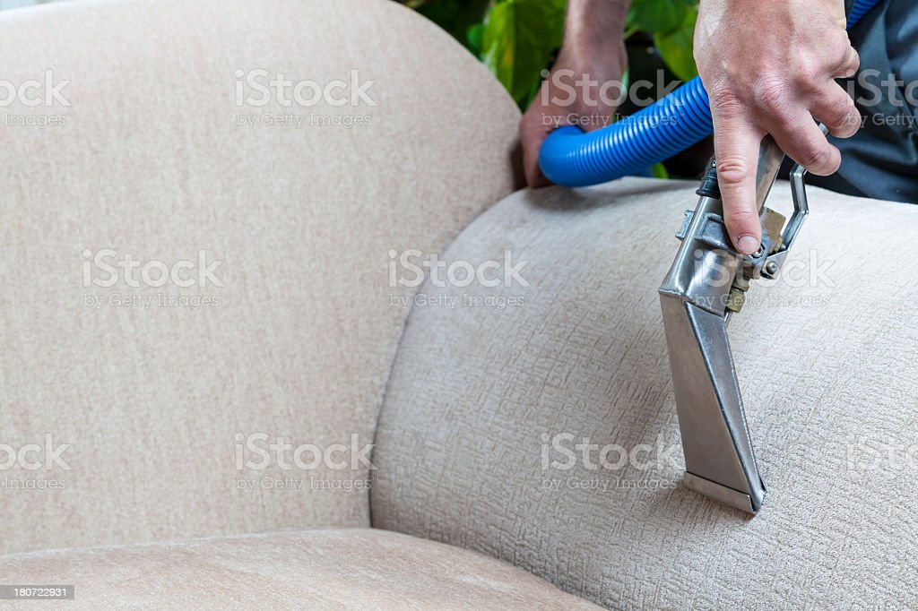 Furniture Steam Cleaning stock photo