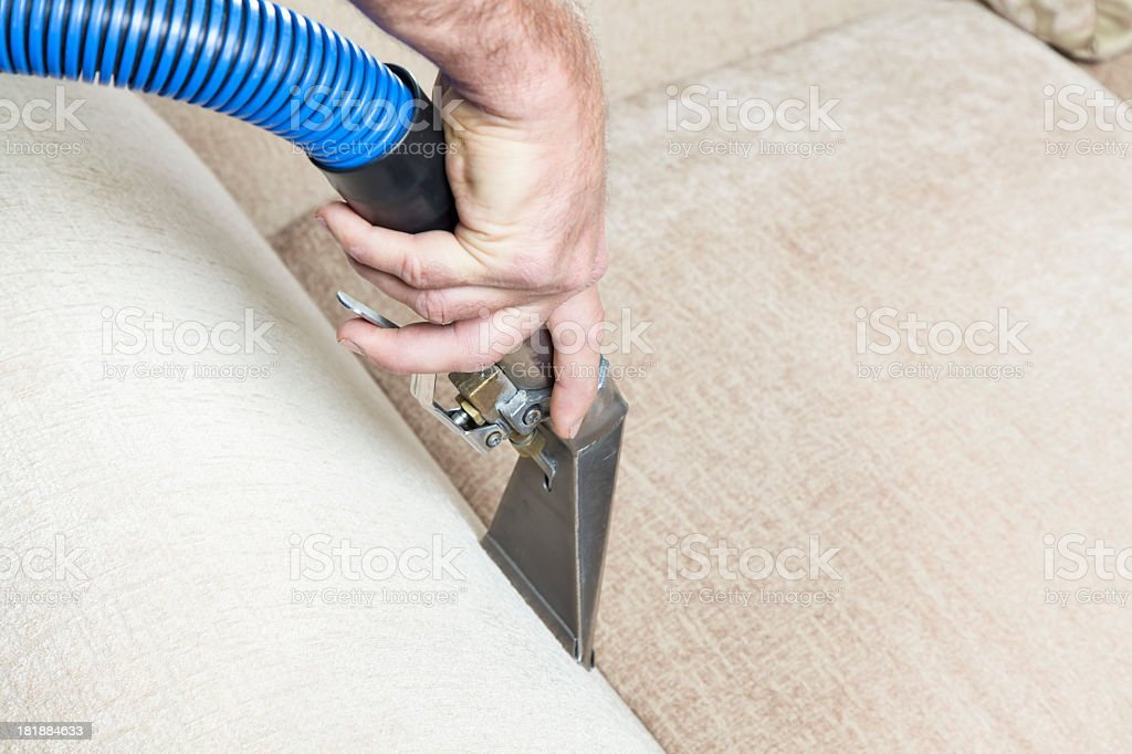 Furniture Steam Cleaning royalty-free stock photo