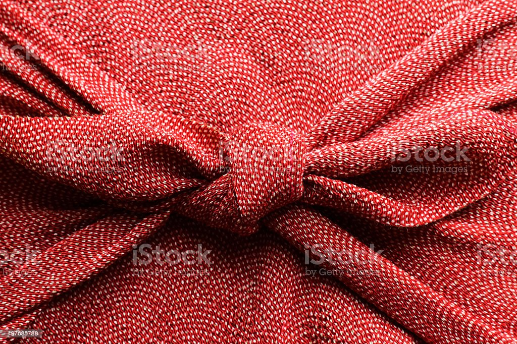 Furoshiki wrapping stock photo