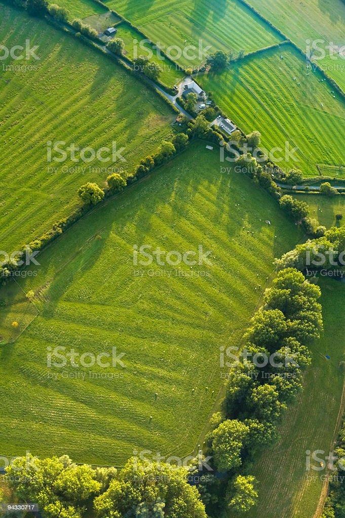 Furrows and farm royalty-free stock photo