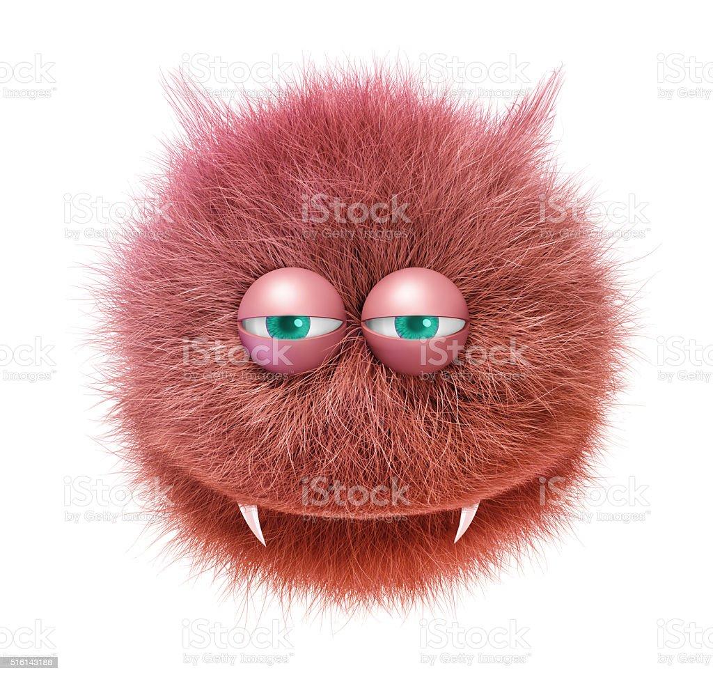 furry funny devil stock photo