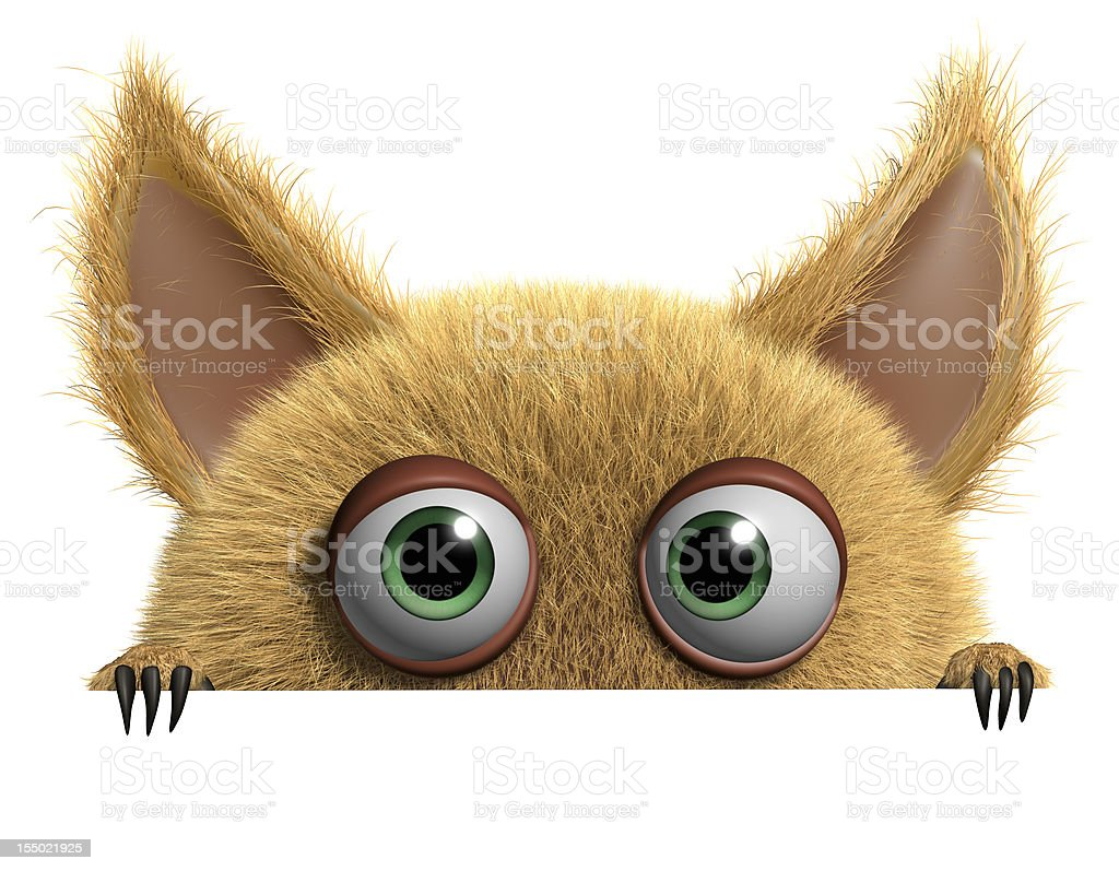 furry gremlin vector art illustration