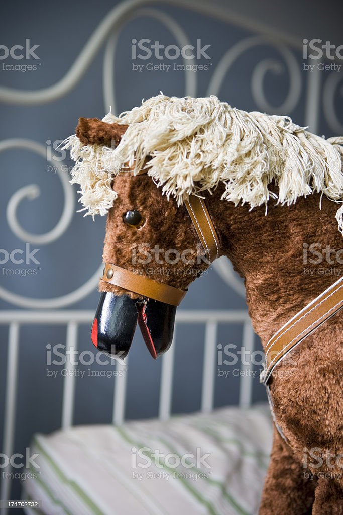 Furry Rocking Horse royalty-free stock photo