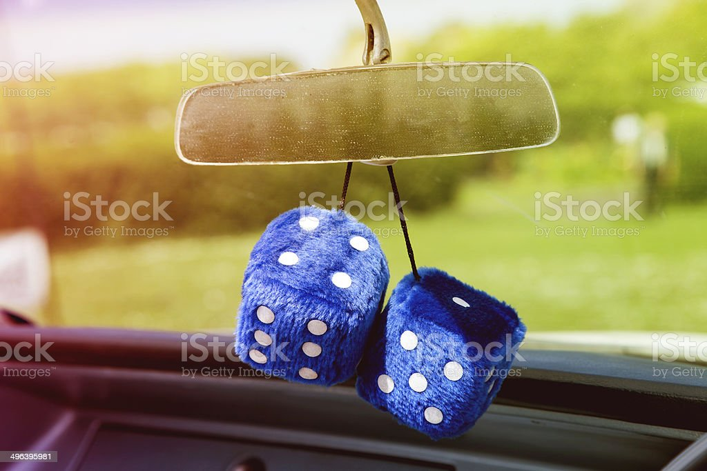 Furry dice stock photo