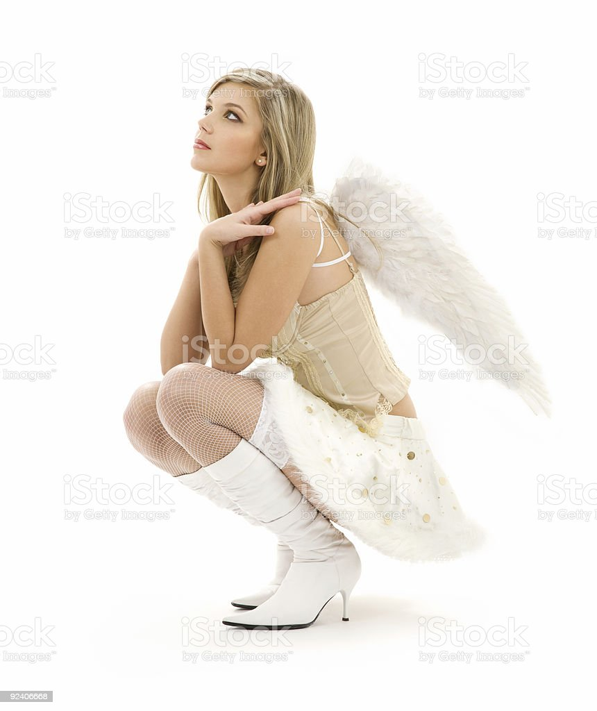 furry skirt angel royalty-free stock photo