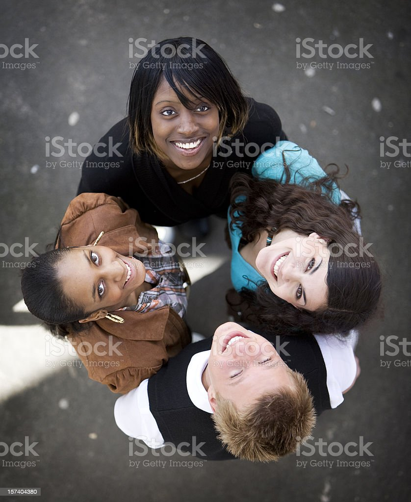 further education: best friends royalty-free stock photo
