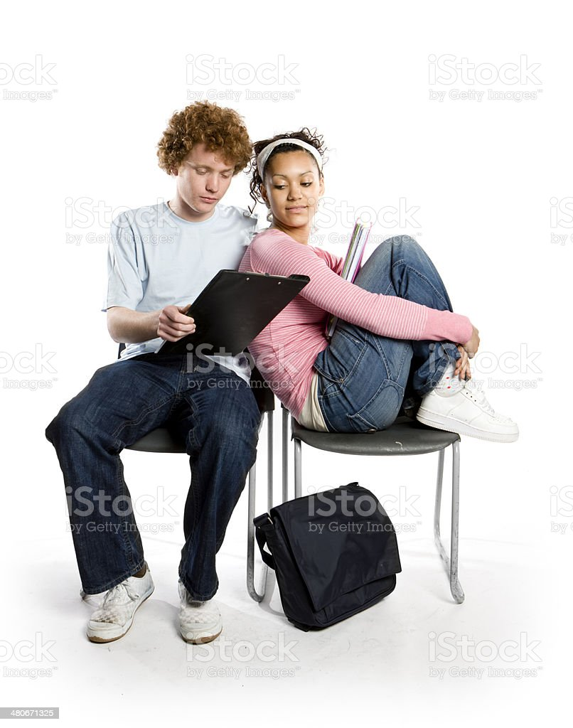 further education: breaktime study royalty-free stock photo