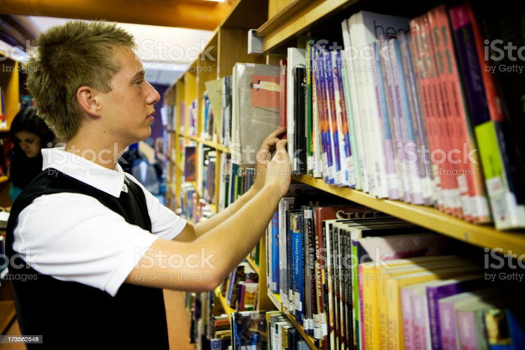 further education: browsing for books royalty-free stock photo