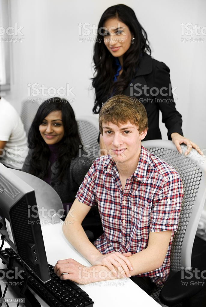 further education: eager students royalty-free stock photo