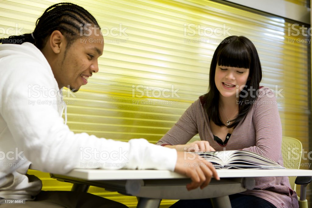 further education: friendly help royalty-free stock photo