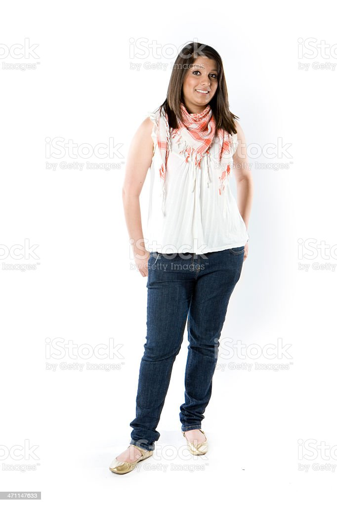 further education: friendly teenager royalty-free stock photo