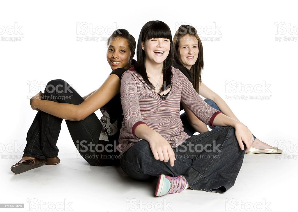further education: friends together royalty-free stock photo