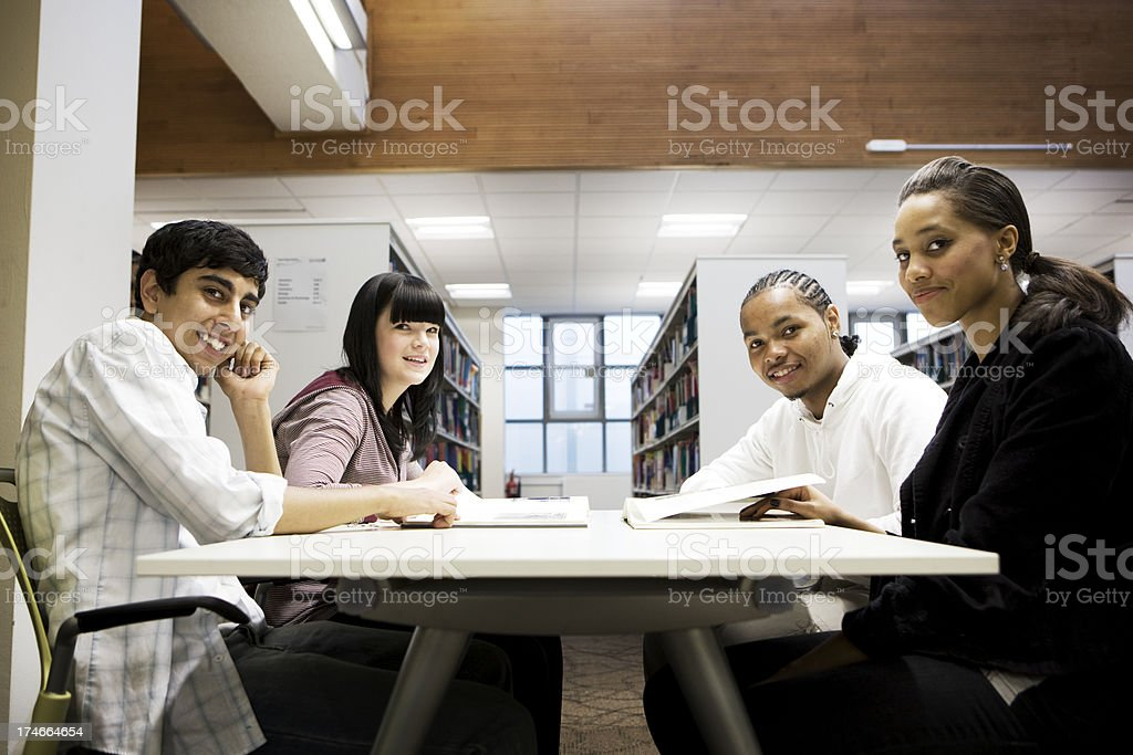 further education: group work royalty-free stock photo