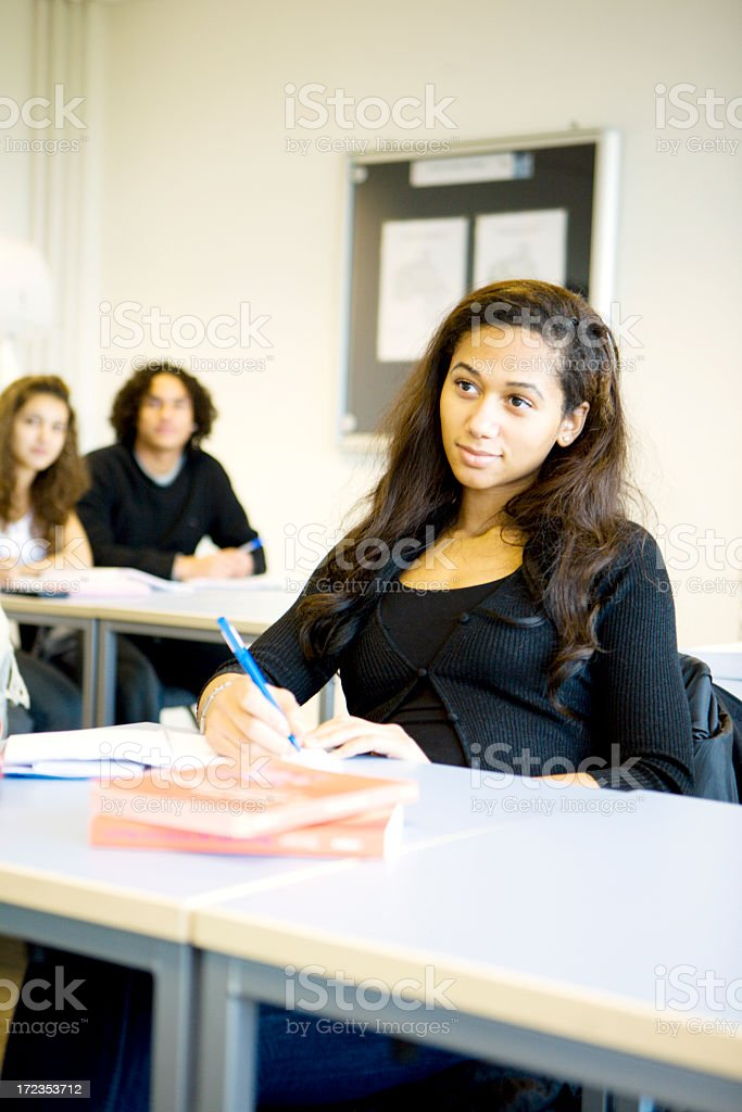 further education: interested student royalty-free stock photo